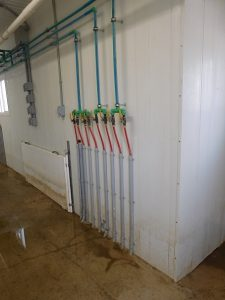 Schlegelhome Farms Inc hot water heat for farrowing rooms