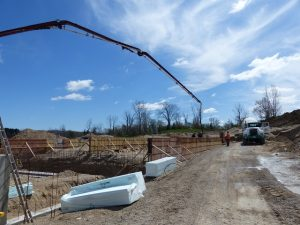 Pouring foundation of new nursery and farrowing room